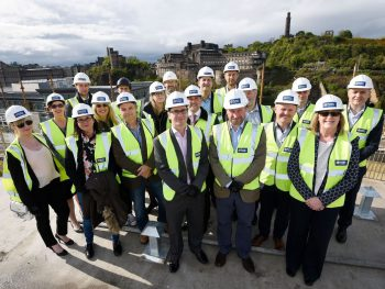 Group photo of the topping out ceremony
