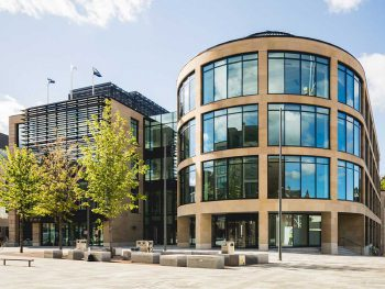 Exterior view of New Waverley offices Edinburgh