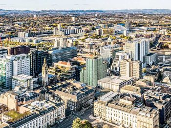 Aerial view of how the Blythswood Quarter development will look when completed