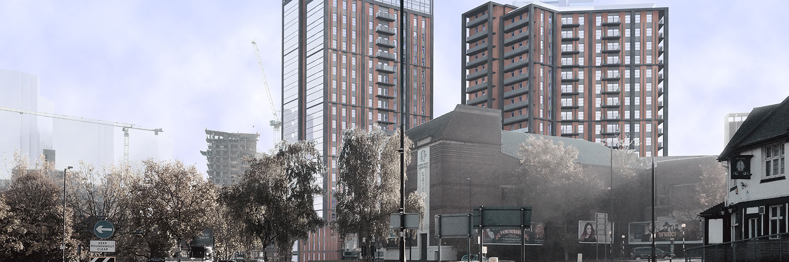 CGI view of the proposed development at Woolwich Keep