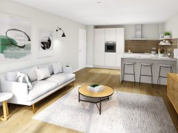 interior of Cannonmills garden apartment
